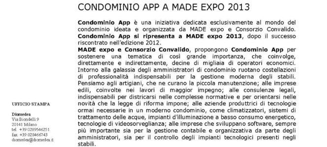 """La mediazione condominiale al MADE EXPO"""